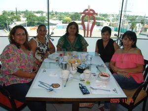 06072017 Maricarmen, Rosaura, Rosy, Griselda y Luz María.