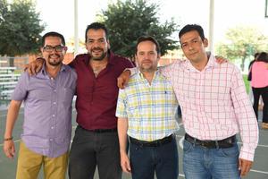Edgardo, Sergio, Guillermo y Sergio