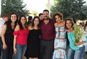 Maru, Nayeli, Marcela, Sergio, Elena y Mónica