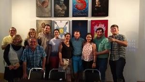 08072017 PRESENTACIóN DE LIBRO.  Gilda, Lico, Rosy, Andoni, Polo, Amaya, Idoia, Hans, Mónica, Salvador y Francisco.