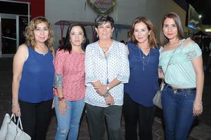 13072017 Lilia, Margarita, Lety, Lulú y Diana.