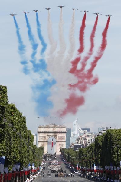 Trump llegó la víspera a París para asistir al desfile, el motivo principal de su primera visita oficial a Francia.