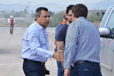 El alcalde Jorge Luis Morán Delgado supervisó las obras.