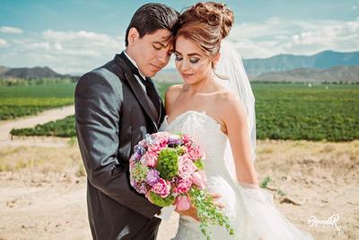 23072017 Eduardo Rivas Martínez y Ana Karem Martino Sánchez contrajeron matrimonio el pasado 15 de julio en Parras de la Fuente, Coahuila. - Brenda R Fotografía.