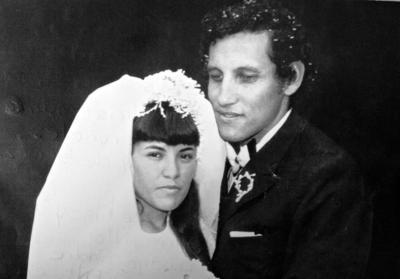 23072017 Enlace matrimonial del Profr. José Luis Gómez Esparza y la Sra. Ma. Alicia Acosta Cervantes, hoy de Gómez, en agosto de 1973.