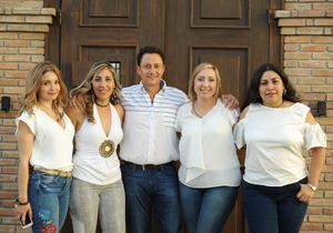24072017 Ale Silveyra, María Elena Enríquez, Fernando Dacarett, Nancy Guajardo y Cecy Adame.