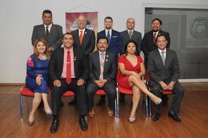 23072017 POSAN PARA LA FOTO.  Integrantes de la nueva directiva del Club Toastmasters Laguna Torreón 9684.