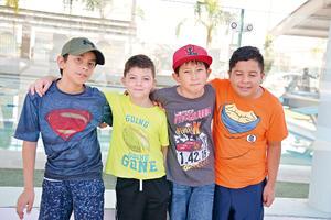 23072017 CURSO DE VERANO.  José, David, Juan José y Mauricio.