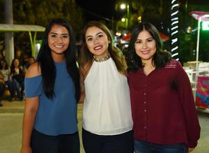 26072017 Laura Escobar, Monserrat Monreal y Cecilia Lechuga.