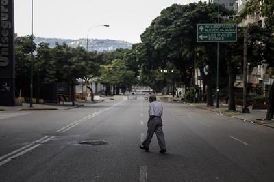 Las calles lucieron prácticamente vacías.