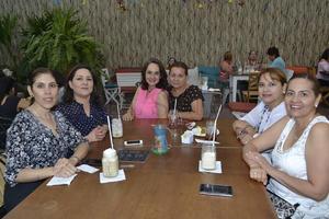 1.-Lorena Villarreal, Cecilia Ayala, Rosy Briseño, Verónica Barbosa, Ana Thompson y  Lupita García.