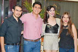 30072017 César, Arturo, Mónica y Melissa.