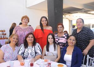 31072017 FIESTA DE CANASTILLA.  Ana Sofía Cabral acompañada de sus familiares y amigas.