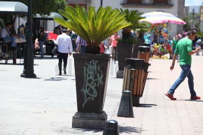 El vandalismo se manifiesta también en zonas altamente vigiladas.