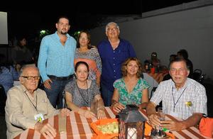 03082017 César Antonio, César, Cuauhtémoc, Ricardo, Margarita, Mónica, Manuel, Evangelina, Felipe y Gaby.