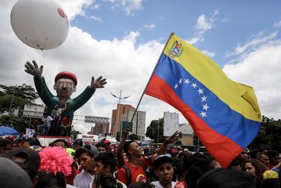 La instalación de la Constituyente, fue transmitida en cadena obligatoria de radio y televisión. EFE/Miguel Gutiérrez