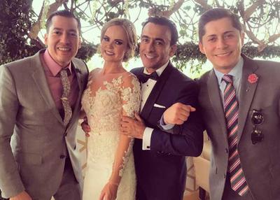 El conductor y cómico se casó con Karla de la Mora.