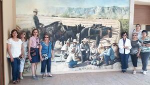 06082017 RECORRIDO TURíSTICO.  Esperanza, Lourdes, Hilda, Alicia, Yeye, Lety, Julia e Idoia de visita en el Museo del Algodón.