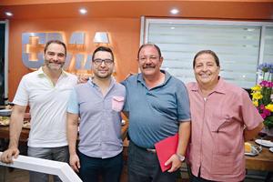 07082017 EN RECIENTE EVENTO.  Jorge, Javier, Jesús y Alberto.