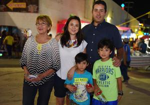 06082017 EN LA FERIA.  Familia Barrón Oyervides.