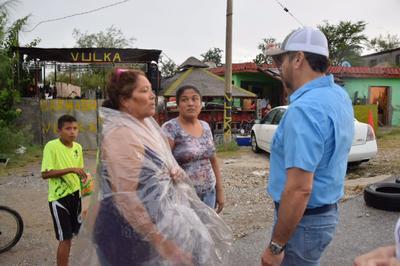 Se realizó un recorrido por algunas colonias de Monclova, ya que las más afectadas fueron Miguel Hidalgo y Ampliación Miguel Hidalgo.