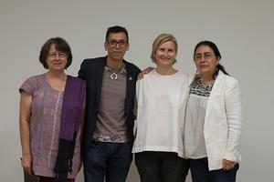 08082017 Marta Turok, Pineda Damián, Ana Elena Mallet y Ana Olga Rodríguez.