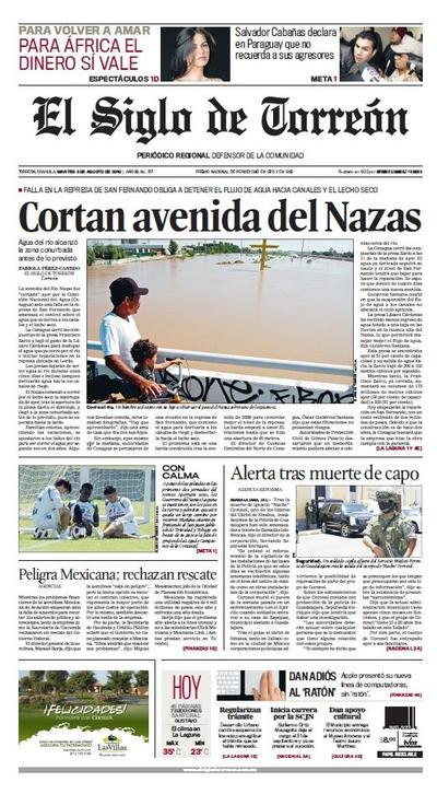 La quinta avenida fue el primero de agosto del año 2010 cuando la Conagua abrió las compuertas de la presa Lázaro Cárdenas que se encontraba a un 90 por ciento de su capacidad, provocando que al siguiente día llegara la corriente a la zona conurbada.