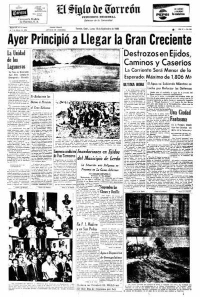 La segunda avenida es recordada como la gran inundación y ha sido la de mayor volumen en el gasto. También ocurrió un 15 de septiembre, de 1968.