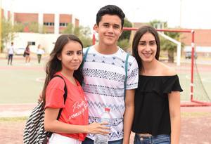 11082017 María Herrera, Juan Fernando Aguilar y Daniela Villalobos.