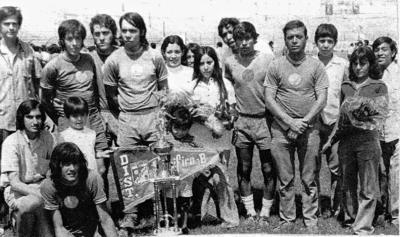 13082017 Equipo Distribuidora del Pacífico, campeones en 1970: Cornelio González, José L. García, Rodolfo Ávalos, José Vázquez (f), Beto, Jorge (f), José Faedo y Ricardo González.