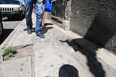 Recientemente, se han denunciado varios casos de torceduras sufridas por peatones.
