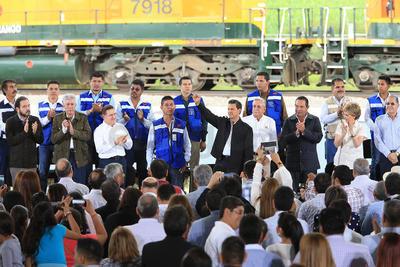 """Luego de inaugurar un libramiento ferroviario, dijo que lo anterior es muestra del """"cambio cualitativo que ha tenido México"""", donde se proyecta confianza para atraer inversiones."""