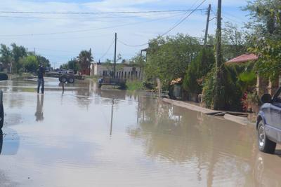 De acuerdo con lo reportado por la alcaldesa de Mapimí, hay más de 100 viviendas afectadas por las inundaciones, cuatro casas derrumbadas y ocho a punto de colapsar, así como sembradíos de melones gravemente dañados.