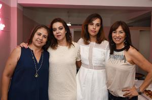 Pilar, Verónica, Daniela y Brenda