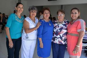 19082017 María Elena, Elvira, Nena, Malena y María Elena.