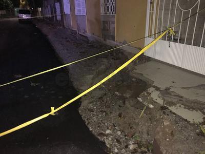 No se reportaron daños a personas y el lugar está bajo resguardo de manera preventiva.
