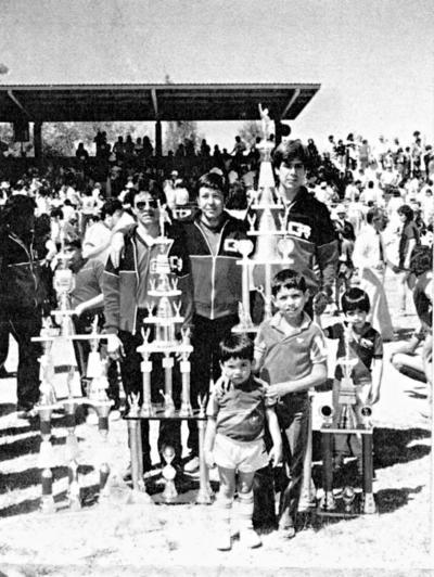 20082017 Equipo GR, campeón de la liga, de copa y campeón de campeones. Beto López, José L. García y Jorge Rodríguez, en los años 80.