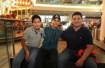 Juan Pablo, Joel y Sebastián.