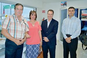 22082017 EN AMENA CONVIVENCIA.  Alejandro, Gaby, Rafael y Roberto.