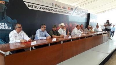 Las acciones se realizaron en el Campo de Tiro y Pesca, perteneciente al municipio de Guerrero, Coahuila.