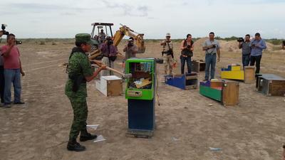 Además se destruyeron 15 máquinas 'mini casinos', que representan ingresos de 1.8 millones de pesos anuales.