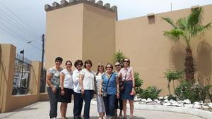 26082017 EN EL MUSEO DEL ALGODÓN.  Julia, Idoia, Yeye, Esperanza, Lourdes, Hilda y Lety.