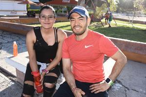 26082017 EN EL TRIATLóN.  Fabiola y Abraham.