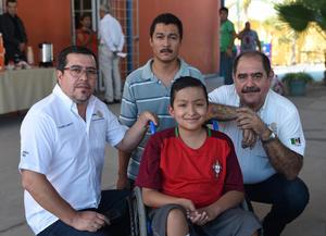 27082017 Fernando Domínguez, Pedro Abraham, Ricardo Yaer Ceballos y Ricardo Ceballos.
