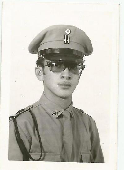 29082017 Jesús Máximo Moreno Mejía, integrante del Estado Mayor del Pentatlán Deportivo Militarizado Universitario (PDMU, Coahuila), en 1963.