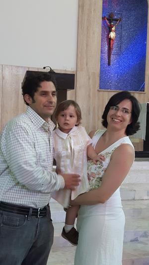 30082017 EN CEREMONIA.  Manuel Iñaki y Maejolaine con Julen.