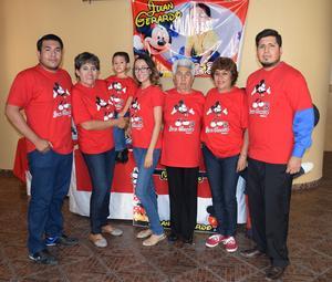 31082017 CUMPLEAñOS EN FAMILIA.  El pequeño Juan Gerardo García acompañado de sus seres queridos.