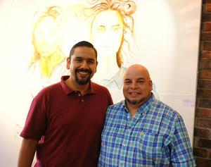 02092017 ASISTEN A EXPO.  Julio Correa y Miguel Espino.