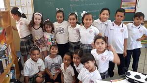02092017 REGRESO A CLASES.  Alumnos de tercero de primaria del Colegio Cervantes Bosque.