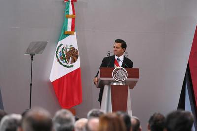 """Añadió que """"hoy se puede afirmar que el proceso de transformación demandado por la sociedad mexicana está en marcha y ya ofrece resultados""""."""
